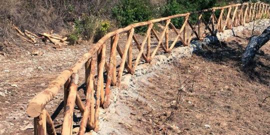 staccionata legno castagno 1
